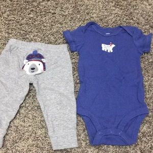 "Carter's ""Bear Hugs"" onesie and pants"